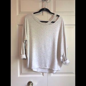 EXPRESS One Eleven Slash Neck Sweatshirt